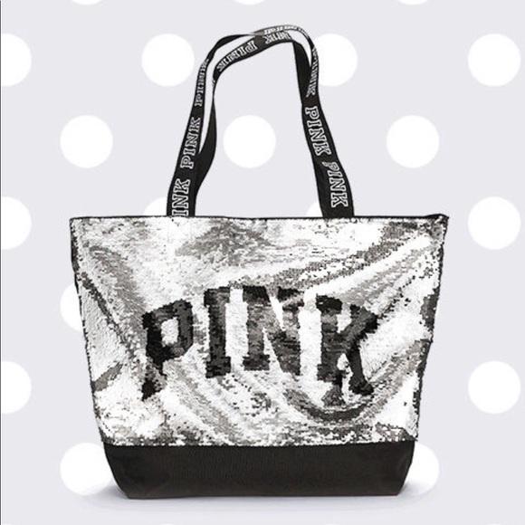 221ffbb263 VS PINK Flip Sequin Bling Tote - Black Friday. NWT. PINK Victoria s Secret
